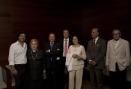 La soprano Mirna Lacambra i el tenor Pedro Lavirgen van assistir al concert amb els respectius cònjuges